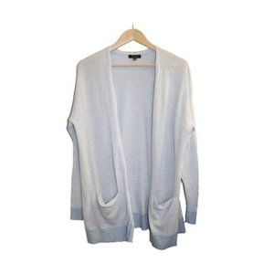 Verve Ami Blue Striped Open Front Cardigan Sweater